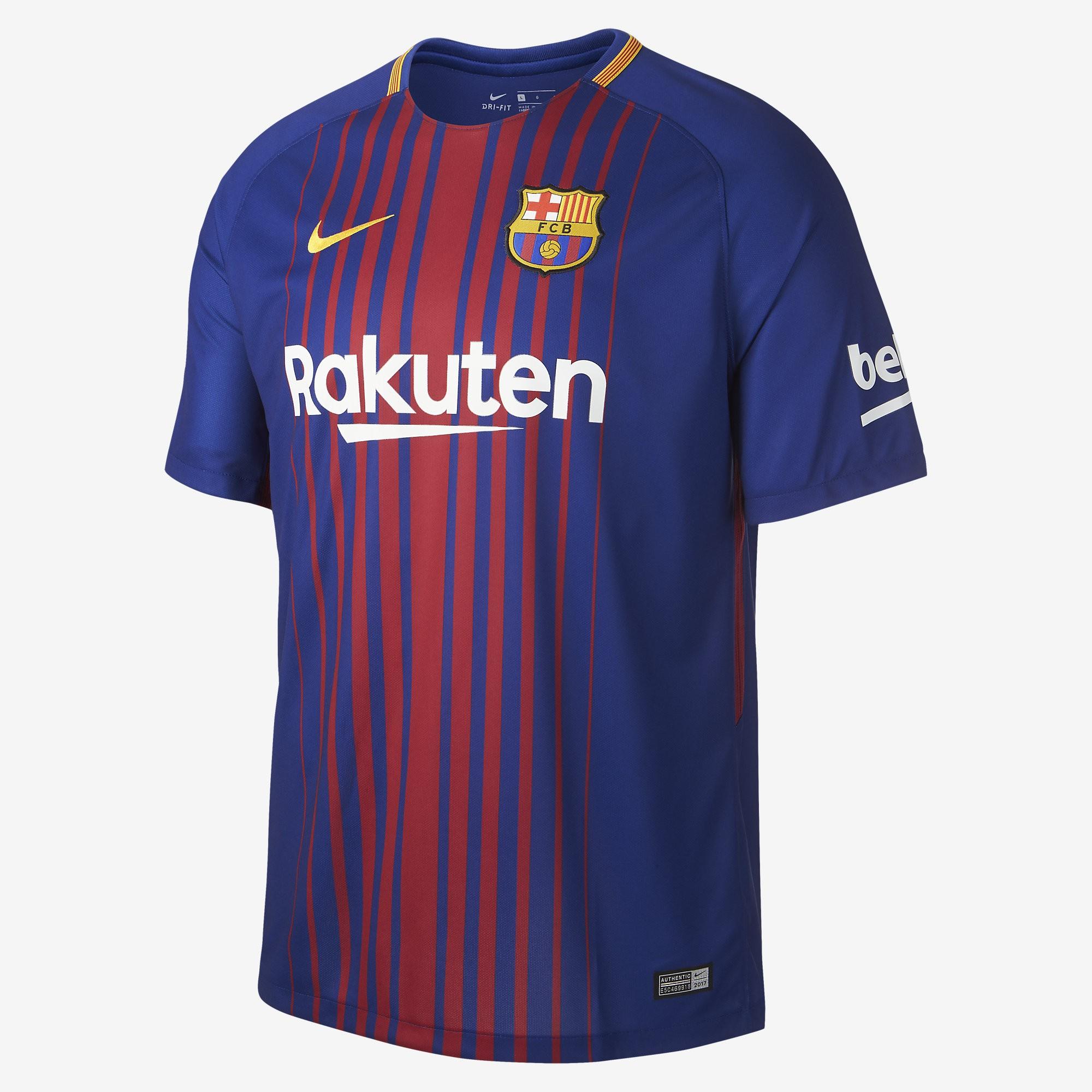 Camiseta Nike FC Barcelona 17-18 Stadium Home 847255 456 - Deportes  Manzanedo 9d3b105955f