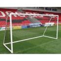Juego de Redes Leon de Oro Futbol 11 3mm PP Oro Blanco EN 748