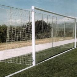 Juego Porterías (2) Fútbol 11 Aluminio F0001+ 4 Cajetines F0025 + 4 Arquillos F0028