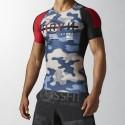 Camiseta Reebok Compresion RCF S/S Camo AA1111