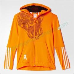 Chaqueta Adidas Capucha YB Locker Room Team X AA8127