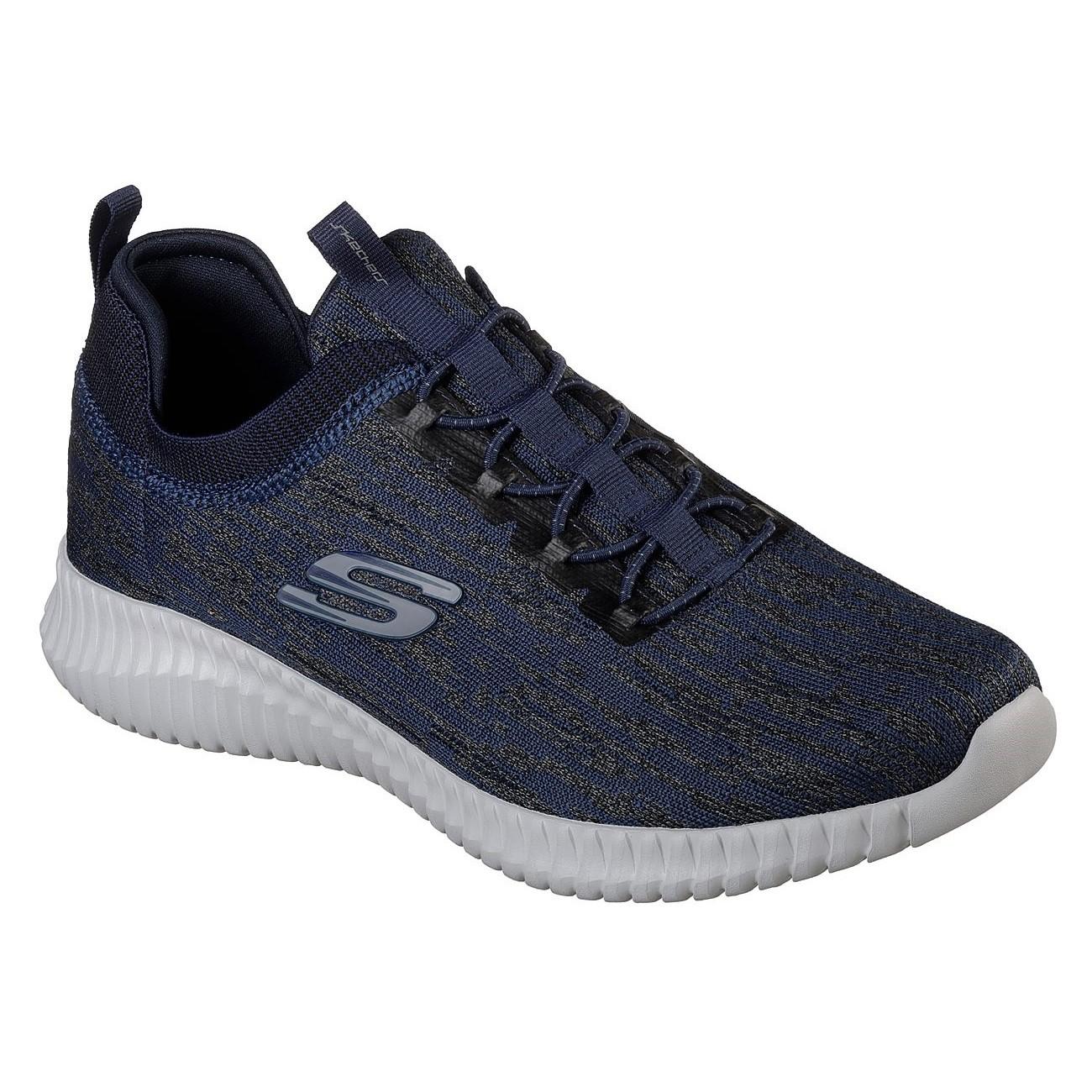 Zapatillas de luces de niño Skechers de color azul marino con plantilla Memory Foam