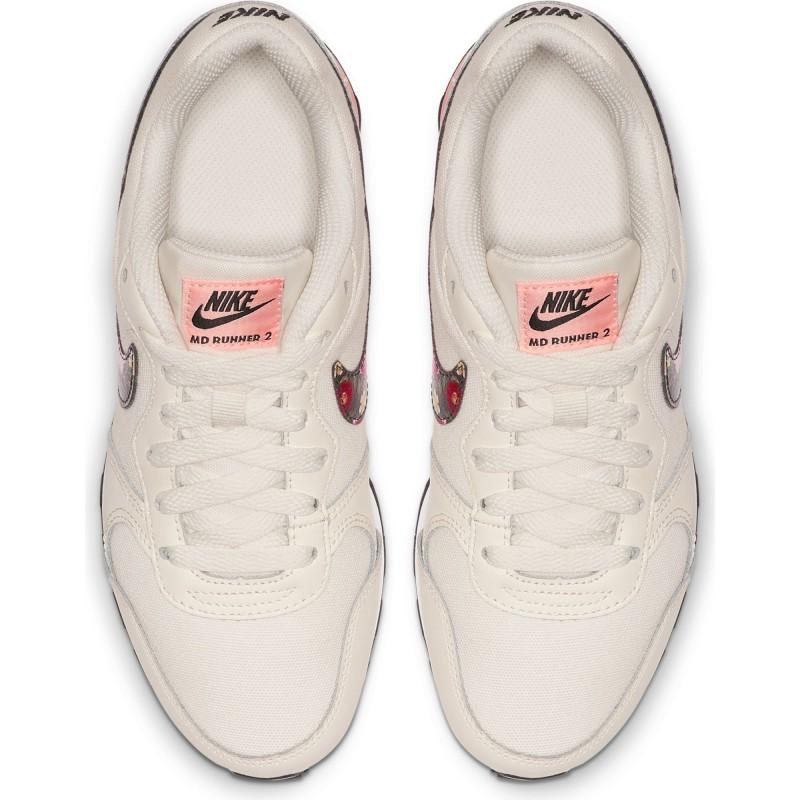 Zapatilla Nike MD Runner 2 Vintage Floral BQ7030 100 BLACK