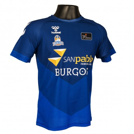 Camiseta San Pablo Burgos 1ª eqipacion Manga Corta Azul