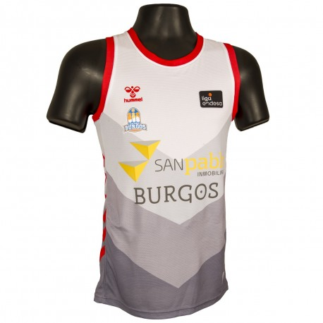 Camiseta San Pablo Burgos 2ª eqipacion Tirantes Blanca