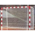 Juego de Redes Leon de Oro Balonmano/Futbol Sala 3mm PP Oro Blanco EN 749