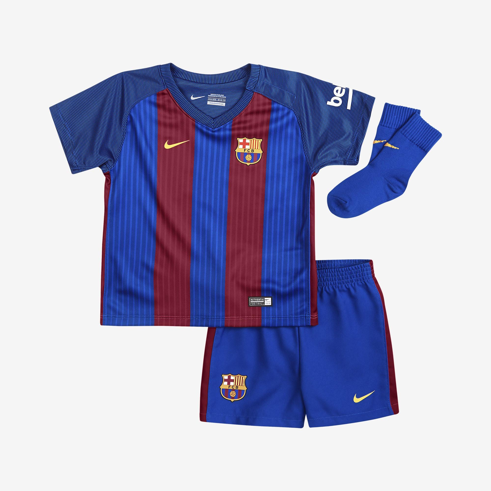 Equipación Bebé Nike Barcelona 16-17 Local 776718 481 - Deportes Manzanedo 63297d06488