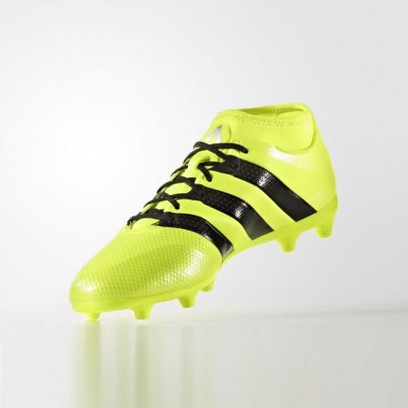 Adidas Ace 16.3 Primemesh, Botas de Fútbol para Hombre, Negro (Core Black/Core Black/Solar Yellow), 47 1/3 EU adidas