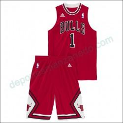 Conjunto Adidas NBA Chicago Bulls Derrick Rose Z23956 Junior